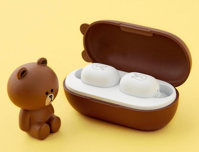 Xiaomi Youpin Line Friends True Wireless Waterproof Earphones Wireless Bluetooth 5.0 brown